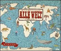 Cover-Bild zu Mizielinska, Aleksandra (Illustr.): Alle Welt 2022 - Landkarten-Kalender von DUMONT- Kinder-Kalender - Querformat 58,4 x 48,5 cm