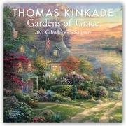 Cover-Bild zu Thomas Kinkade Gardens of Grace with Scripture 2021 Wall Calendar von Kinkade, Thomas