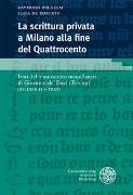 Cover-Bild zu La scrittura privata a Milano alla fine del Quattrocento / Volume II - Testi von Wilhelm, Raymund (Hrsg.)