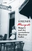 Cover-Bild zu Maigret und der verstorbene Monsieur Gallet von Simenon, Georges