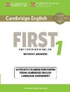 Cover-Bild zu Cambridge English First 1. Student's Book without Answers