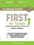 Cover-Bild zu Cambridge English First 1 for Schools. Student's Book without Answers