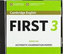 Cover-Bild zu Cambridge English First 3 Audio CDs
