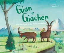 Cover-Bild zu Gian e Giachen e la muntogna da las stailas crudantas von Jackowski, Amélie (Illustr.)