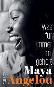 Cover-Bild zu Was für immer mir gehört von Angelou, Maya