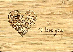 Cover-Bild zu PK Bambus Herz Wishes100 I love you