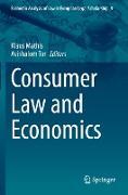 Cover-Bild zu Tor, Avishalom (Hrsg.): Consumer Law and Economics