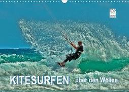 Cover-Bild zu Kitesurfen - über den Wellen (Wandkalender 2021 DIN A3 quer) von Roder, Peter