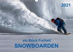 Cover-Bild zu Snowboarden - ein Stück Freiheit (Wandkalender 2021 DIN A3 quer) von Roder, Peter