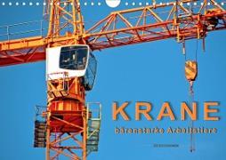 Cover-Bild zu Krane - bärenstarke Arbeitstiere (Wandkalender 2021 DIN A4 quer) von Roder, Peter