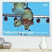 Cover-Bild zu Fallschirmspringen - Mut und Abenteuer (Premium, hochwertiger DIN A2 Wandkalender 2021, Kunstdruck in Hochglanz) von Roder, Peter