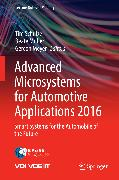 Cover-Bild zu Advanced Microsystems for Automotive Applications 2016 (eBook) von Müller, Beate (Hrsg.)