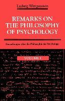 Cover-Bild zu Wittgenstein, Ludwig: Remarks on the Philosophy of Psychology