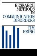 Cover-Bild zu Pring: Research Methods in Communication