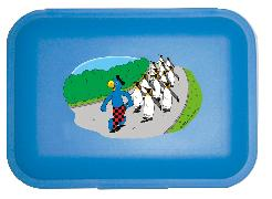 Cover-Bild zu Globi Lunchbox Pinguinparade blau