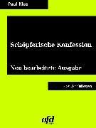 Cover-Bild zu Klee, Paul: Schöpferische Konfession (eBook)