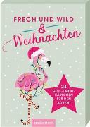 Cover-Bild zu Frech & wild & Weihnachten. Adventskalender Kartenbox mit 24 Gute-Laune-Kärtchen für den Advent