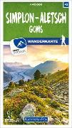 Cover-Bild zu Hallwag Kümmerly+Frey AG (Hrsg.): Simplon - Aletsch Goms 42 Wanderkarte 1:40 000 matt laminiert. 1:40'000