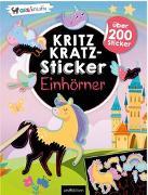 Cover-Bild zu Kritzkratz-Sticker Einhörner von Schindler, Eva (Gestaltet)