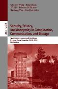 Cover-Bild zu Security, Privacy, and Anonymity in Computation, Communication, and Storage (eBook) von Wang, Guojun (Hrsg.)