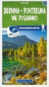 Cover-Bild zu Bernina - Pontresina / Val Poschiavo 47 Wanderkarte 1:40 000 matt laminiert. 1:40'000