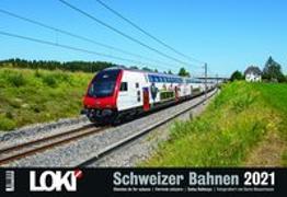 Cover-Bild zu LOKI Kalender Schweizer Bahnen 2021