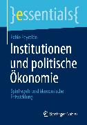 Cover-Bild zu Institutionen und politische Ökonomie (eBook) von Peyrolón, Pablo