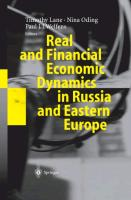 Cover-Bild zu Lane, Timothy (Hrsg.): Real and Financial Economic Dynamics in Russia and Eastern Europe