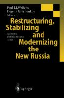 Cover-Bild zu Gavrilenkov, Evgeny (Hrsg.): Restructuring, Stabilizing and Modernizing the New Russia