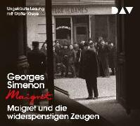 Cover-Bild zu Simenon, Georges: Maigret und die widerspenstigen Zeugen
