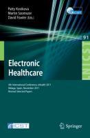 Cover-Bild zu Kostkova, Patty (Hrsg.): Electronic Healthcare