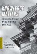 Cover-Bild zu Rhoten, Diana (Hrsg.): Knowledge Matters