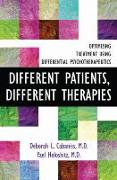 Cover-Bild zu Cabaniss, Deborah L. (Columbia University): Different Patients, Different Therapies