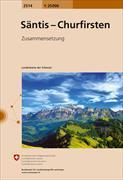 Cover-Bild zu Säntis, Churfirsten. 1:25'000