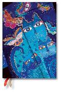 Cover-Bild zu 2021 Katzen in Blau mit Schmetterlingen Midi 12M. Vertikal