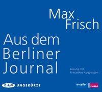 Cover-Bild zu Frisch, Max: Aus dem Berliner Journal