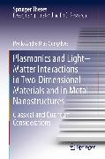 Cover-Bild zu Gonçalves, Paulo André Dias: Plasmonics and Light-Matter Interactions in Two-Dimensional Materials and in Metal Nanostructures (eBook)