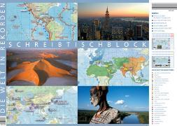 Cover-Bild zu Die Welt in Rekorden. Schreibtischunterlage