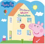 Cover-Bild zu Schwager & Steinlein Verlag: Peppa Pig Stickern Malen Gestalten