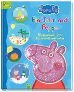 Cover-Bild zu Specht, Florentine: Ein Jahr mit Peppa - Peppa Pig