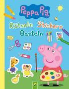 Cover-Bild zu Schwager & Steinlein Verlag: Peppa Pig Rätseln Stickern Basteln