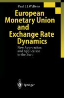 Cover-Bild zu Welfens, Paul J.J.: European Monetary Union and Exchange Rate Dynamics