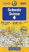 Cover-Bild zu Hallwag Kümmerly+Frey AG (Hrsg.): Schweiz ACS 2021. 1:275'000