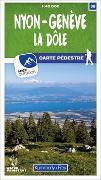 Cover-Bild zu Hallwag Kümmerly+Frey AG (Hrsg.): Nyon-Genève 38 Wanderkarte 1:40 000 matt laminiert. 1:40'000
