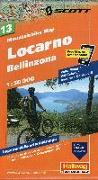 Cover-Bild zu Locarno, Bellinzona Mountainbike-Karte Nr. 13, 1:50 000. 1:50'000