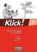 Cover-Bild zu Angel, Margret: Klick! Deutsch, Östliche Bundesländer und Berlin, 9. Schuljahr, Sprechen, Lesen, Schreiben, Handreichungen für den Unterricht