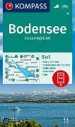 Cover-Bild zu KOMPASS-Karten GmbH (Hrsg.): KOMPASS Wanderkarte Bodensee Gesamtgebiet. 1:75'000