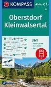 Cover-Bild zu KOMPASS-Karten GmbH (Hrsg.): KOMPASS Wanderkarte Oberstdorf, Kleinwalsertal. 1:25'000
