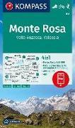 Cover-Bild zu KOMPASS-Karten GmbH (Hrsg.): KOMPASS Wanderkarte Monte Rosa, Valle Anzasca, Valsesia. 1:50'000