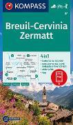Cover-Bild zu KOMPASS-Karten GmbH (Hrsg.): KOMPASS Wanderkarte Breuil-Cervinia, Zermatt. 1:50'000